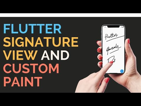 Flutter: Signature View And Custom Painter Implementation   Drawing App