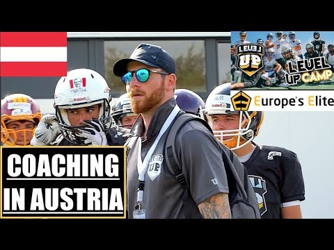 COACHING AMERICAN FOOTBALL In AUSTRIA! (Europe's Elite Level Up Camp)