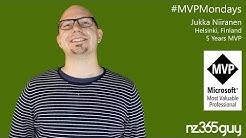 Jukka Niiranen on MVP Mondays - Microsoft Business Applications MVP