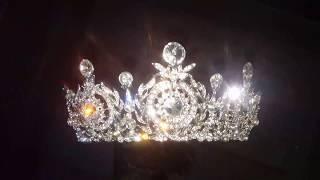 Свадебная корона для невесты 6 см 8641