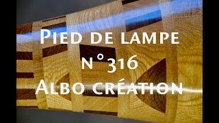 PIED DE LAMPE en Chêne, Palissandre et Massaranduba. N° 316.