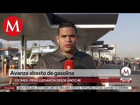 Avanza abasto de gasolina en Estado de México