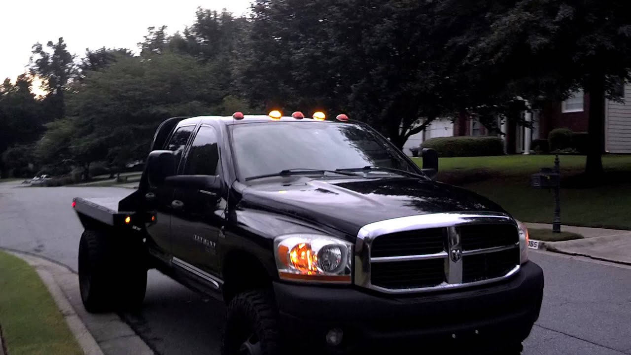 Cummins Dually Flatbed Lifted On 37s Youtube