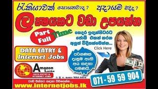 emoney sinhala -Part Time /Full Time/Data Entry Job/ Emoney/Ebay Drop shipping /Internet Jobs