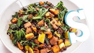 Warm Kale, Apple & Lentil Recipe - 3 Meal Plan (dinner)