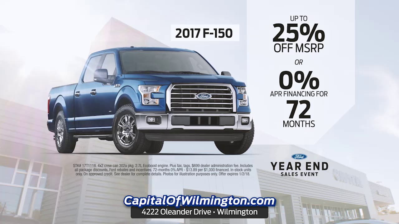 Capital Ford Wilmington >> It S Your Last Chance To Save Big At Capital Ford Wilmington