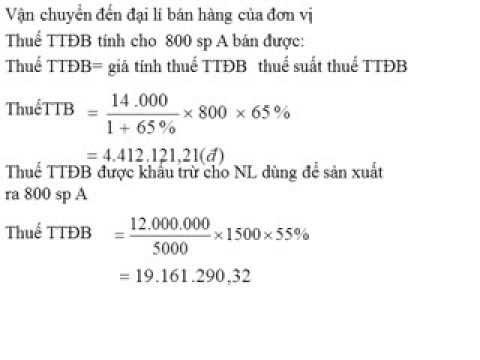 Bài tập thuế xuất nhập khẩu.