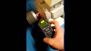 Mesure vitesse rotation d'un moteur electrique