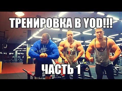 Тренировка за Март месяц в клубе YOD часть 1. Жим 190 кг,Таксист-танцор,Бо и Булат!