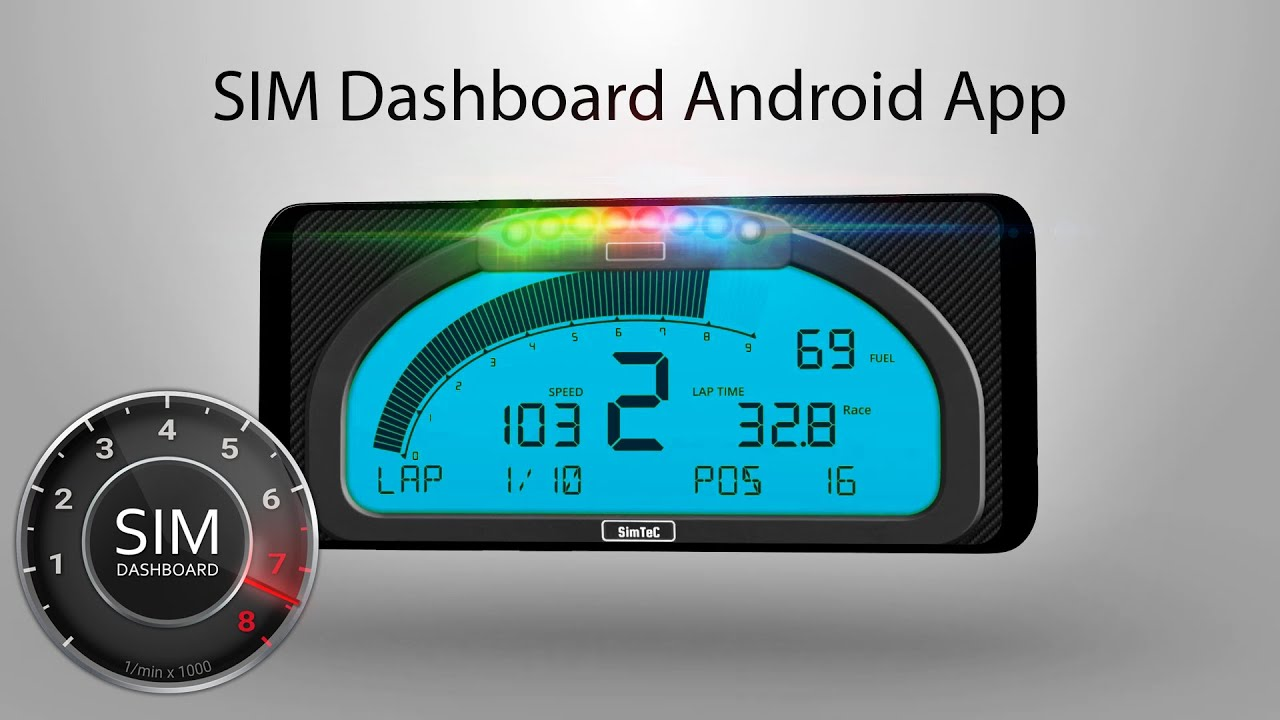 SIM Dashboard Android App for PC, PS4 & XBOX Racing Games 2019