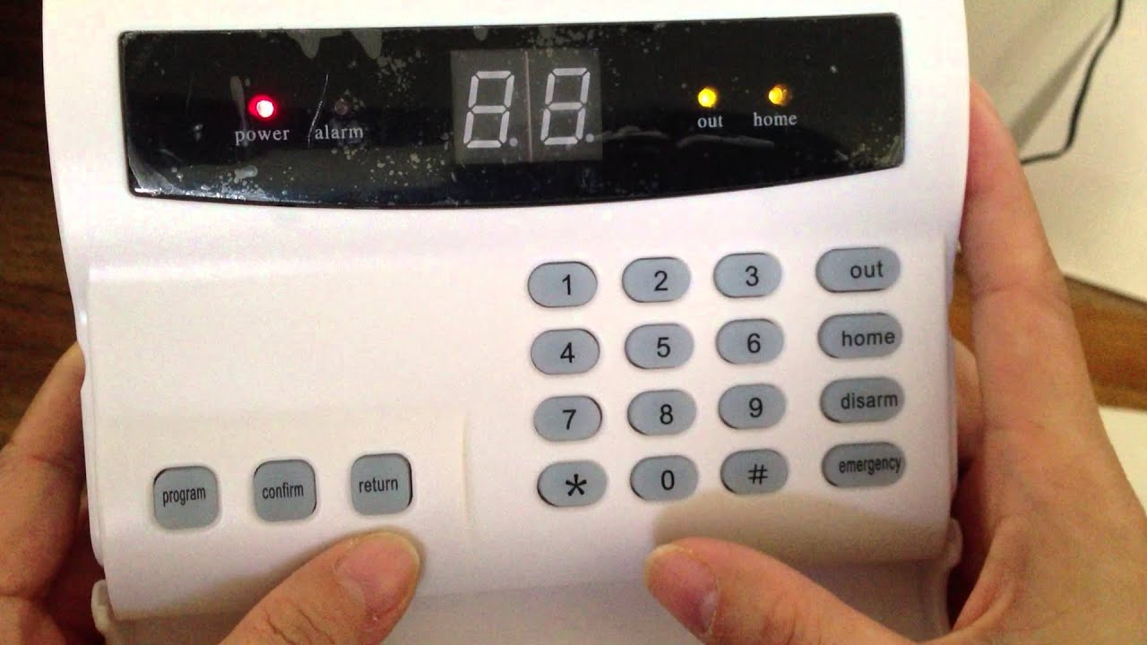 How To Set Up You Phone Number In Pisector Alarm System ALMS02