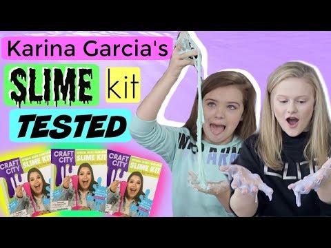 Testing KARINA GARCIA'S DIY SLIME KIT!