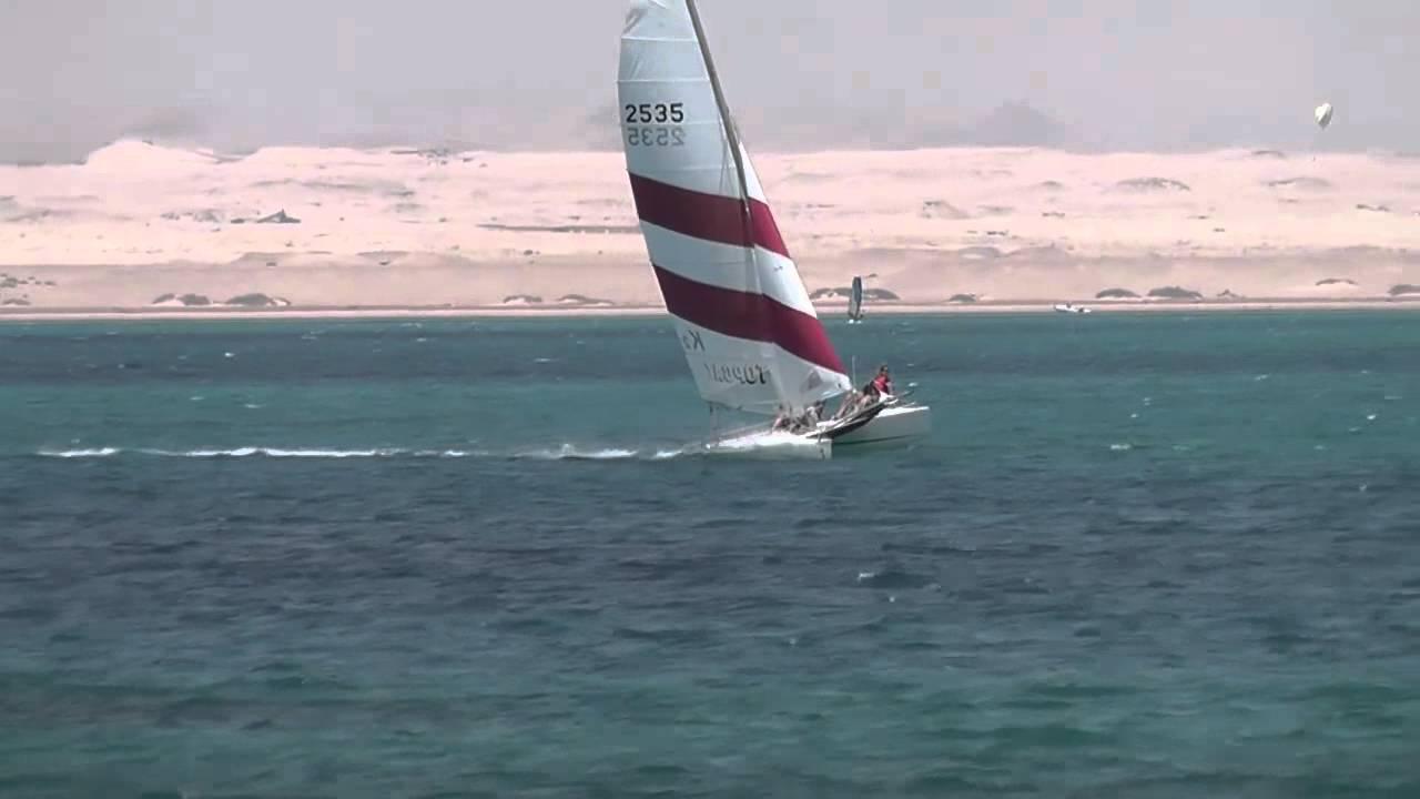 Katamaran segeln sport  Katamaran segeln in Ägypten Soma Bay 2012 - YouTube