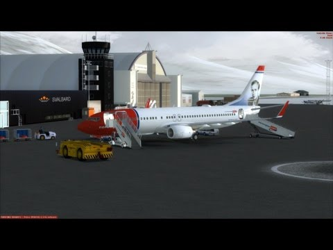 "[FSX] Norwegian 737-800 NGX to the ""Top of the World"""