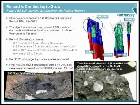 Stornoway's Presentation at the PDAC 2013 Investor's Exchange, Diamond Session