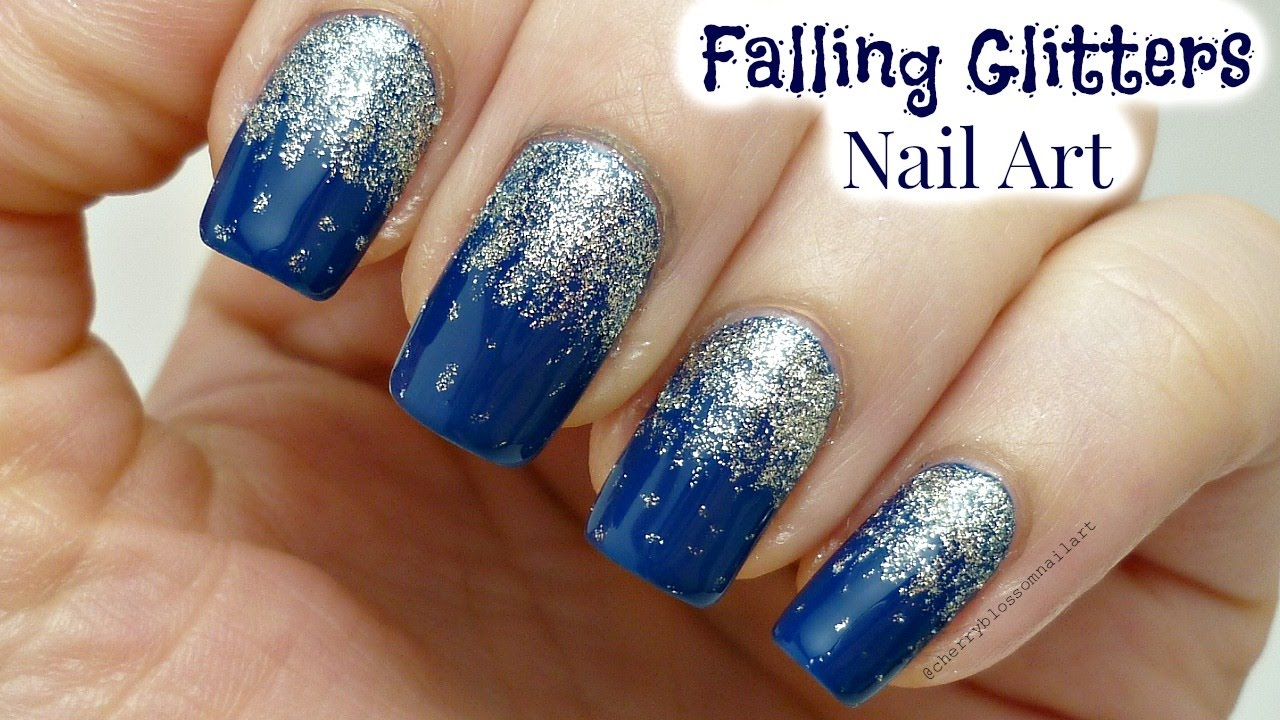 Easy and Quick Falling Glitters Nail Art Design For Beginners! - YouTube