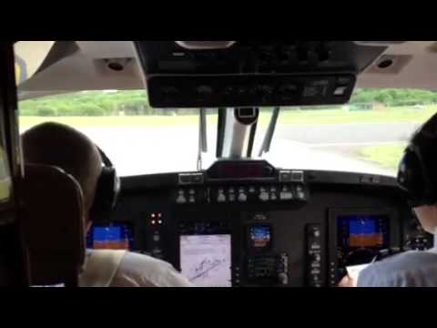 Taxiing to runway at Farnborough airport