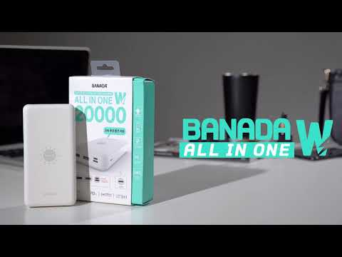 바나다 올인원W 고속 무선 충전 보조배터리 20000mAh
