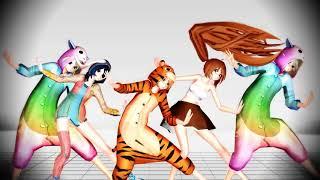 [MMD x MMDers x Plushies] Dance Battle