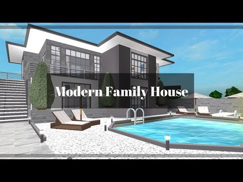 Roblox Bloxburg Modern Family House 91k Youtube