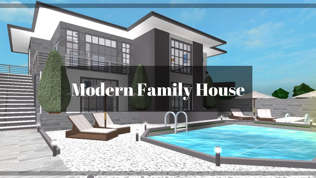 Modern Houses In Roblox Roblox Bloxburg Modern Family House 91k Youtube