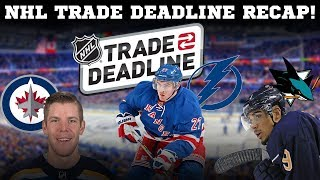 NHL Trade Deadline 2018 Recap!