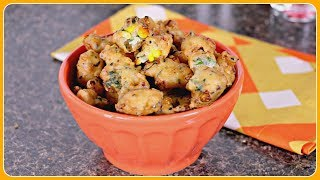 Corn Fritters | Easy Indian Snack Recipes | Sruthi's Kitchen