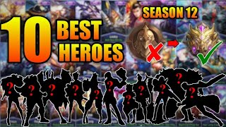 TOP 10 BEST HEROES TO SOLO RANK UP TO MYTHIC -  MOBILE LEGENDS 2019 SEASON 12