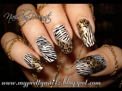 Easy Hot Leopard Zebra Animal Print Nail Art Stamping Design