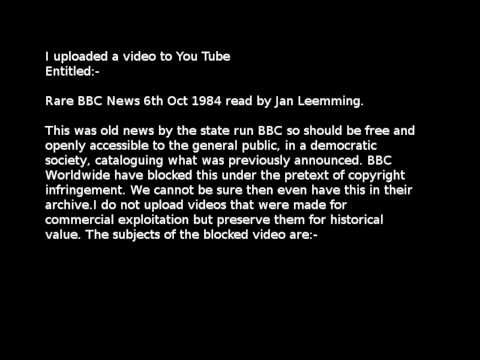 Censored Rare BBC  6th Oct 1984 Death of Leonard Rossiter