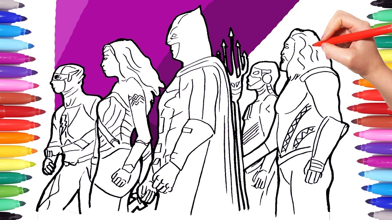Justice League Coloring Pages | Coloring pages, Coloring pages for ... | 720x1280