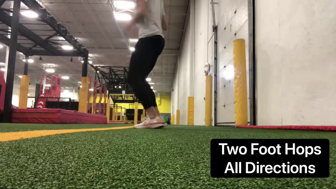 Exercise of the week - two foot ankle hops all directions