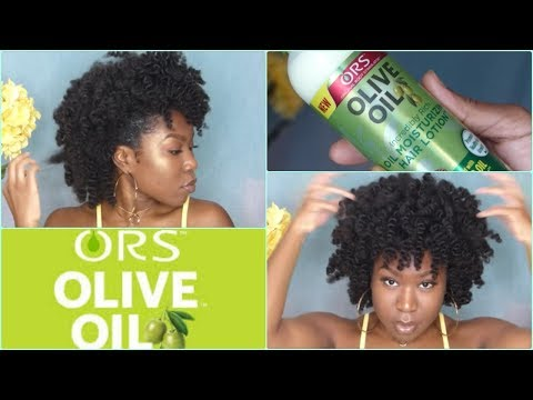 Bantu Knot out on 4c hair ft. ORS Olive oil line