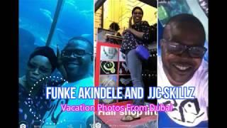 Checkout funke akindele and husband jjc skillz vacation photos from dubai