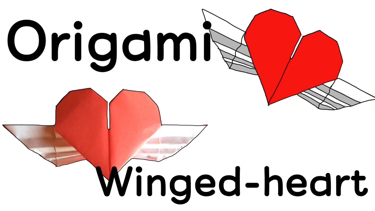 How To Make An Origami Heart With Wings