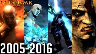 God of War ALL ENDINGS 2005-2016 (PS2, PS3, PS4, PSP)