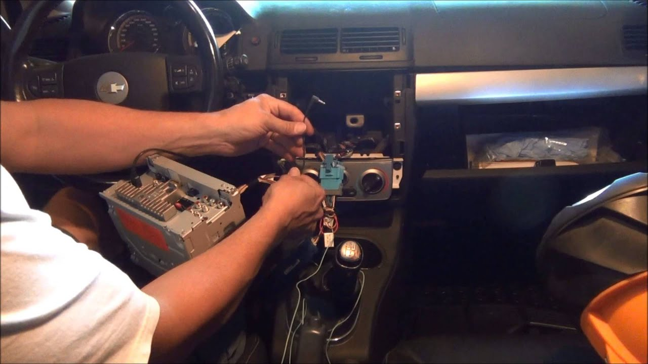 maxresdefault cobalt stereo install video youtube 2007 pontiac g6 stereo wiring harness at eliteediting.co