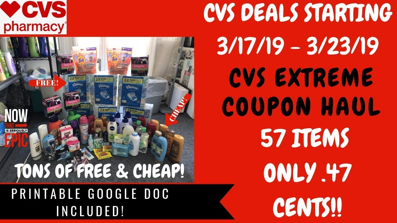 31bbded9858 CVS Extreme Coupon Haul Deals Starting 3/17/19~57 Items Only .47 ...