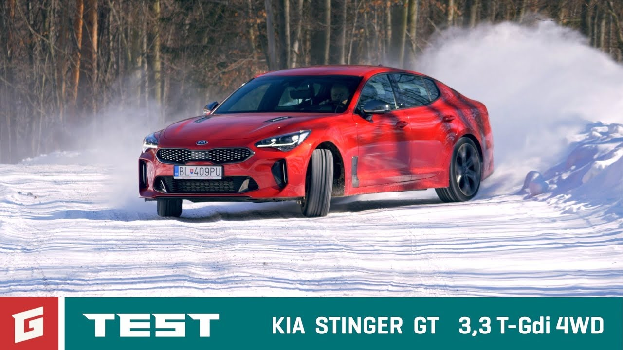 kia stinger gt 3 3 v6 t gdi test 4wd garaz tv youtube. Black Bedroom Furniture Sets. Home Design Ideas