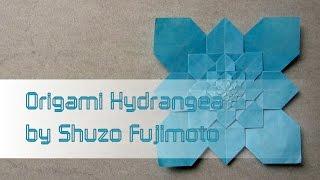 Origami Tutorial: Hydrangea (shuzo Fujimoto)