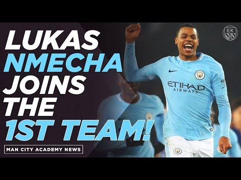 LUKAS NMECHA JOINS MAN CITY'S FIRST TEAM! | Man City Academy News
