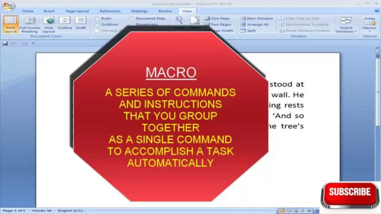 How to create macros in word 2007 for dummies youtube.