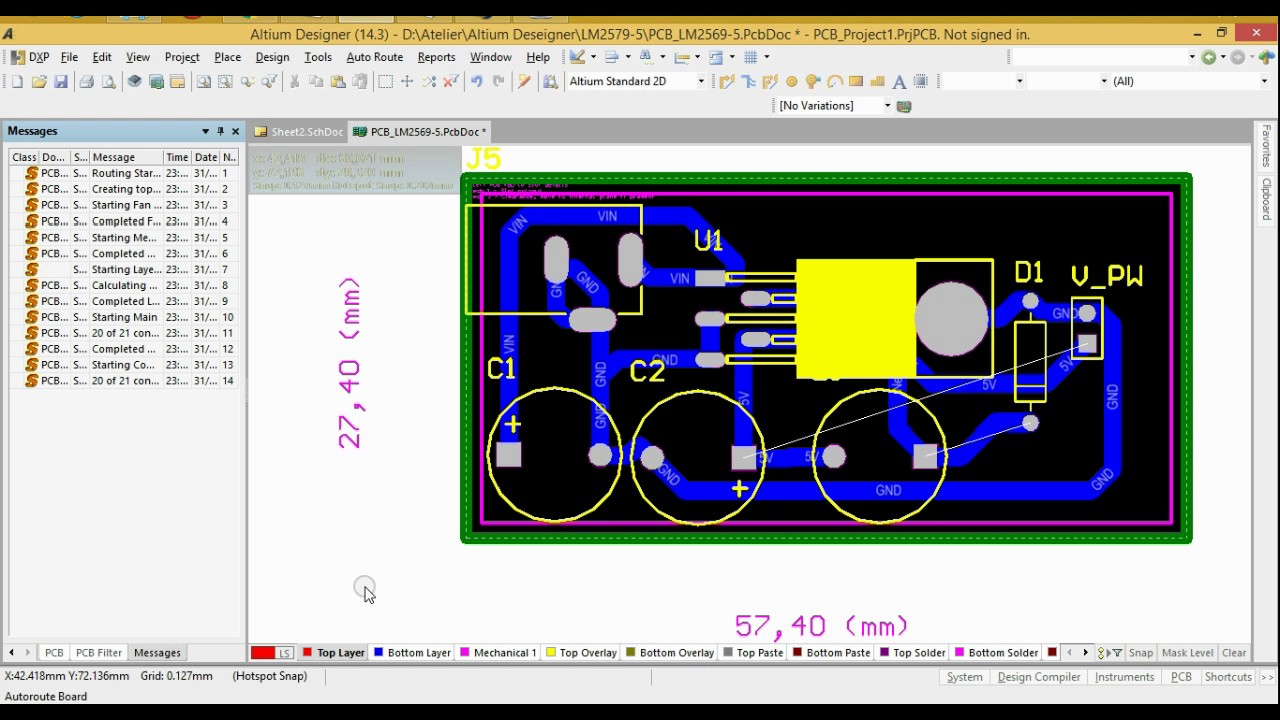 Tutorial PCB Layout with Altium Designer - YouTube