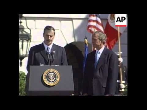 Update on visit by Mexican President Vincente Fox