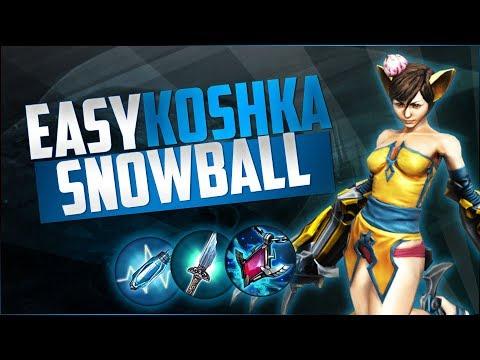 OP EARLY GAME ROTATIONS - Jungle Koshka Gameplay Vainglory 5v5