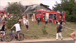 Pożar w Obornikach 15.08.2015r