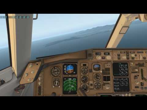 X-Plane 11 Flight Factor 757 Pattern St Maarten with Maho Beach cam view