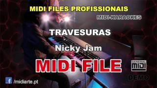 ♬ Midi file  - TRAVESURAS - Nicky Jam