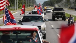 Bizarre protest and counter-protest over Confederate flag