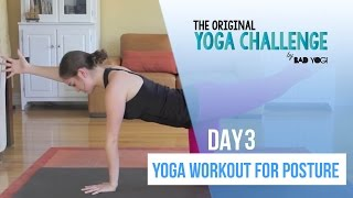 Original Yoga Challenge Day 3: 15 Min Yoga Workout For Posture (Beginner)